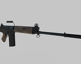 L1A1 - Fn Fal 3D model rigged