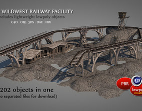 Old Wild West Railway Facility 3D