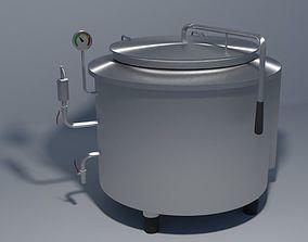 Industrial boiling pan 3D model
