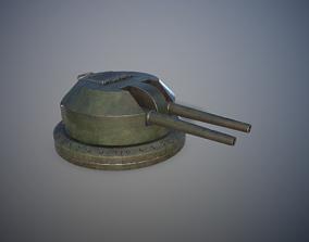 3D model game-ready Gun Turret
