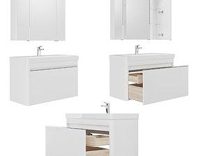 Furniture set Vilora 60-80-105 white gloss 3D