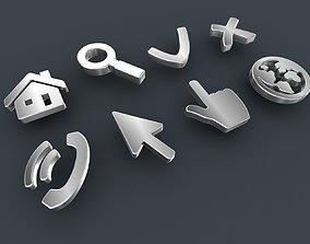 Web 3D icons set