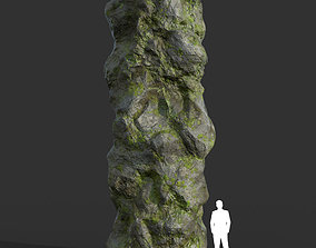 Low poly Cave Modular Mossy Rock Casual05M 3D asset