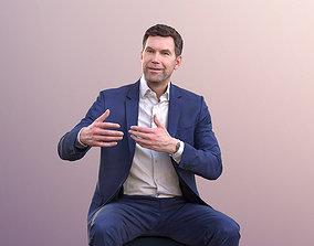 Lars 10962 - Business Man Sitting And Talking 3D model 1