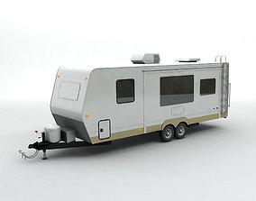 3D model Travel Trailer Toy Hauler 2-Axle