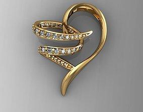 3D printable model pendat Heart pendant