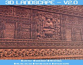 3D asset A free modular of India Temple Construction