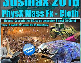 animated 3ds max 2016 PhysX Mass Fx Cloth 3 mesi
