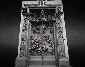 3D model Rodin Gates of Hell photogrammetry scan