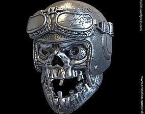 SKull biker helmet vol1A Pendant 3D print model