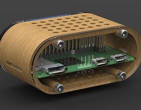 Raspberry PI ZERO enclosure electronics 3D printable model
