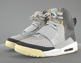Nike Air Yeezy 1 Zen Grey pbr 3D asset