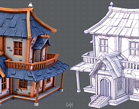 3D asset game-ready House Cartoon V05