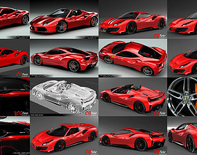 3D Ferrari 488 Collection