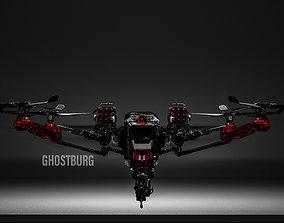 3D model Sci-Fi Futuristic Drone