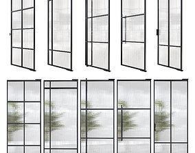 Stalen deuren huys doors 3D