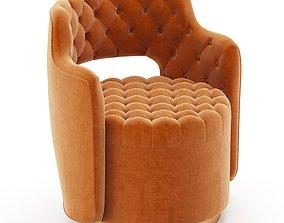 3D model Haute House Tatiana Tufted Armchair