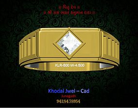 ladies ring 3D asset low-poly jewelry