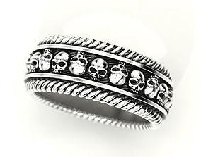 3D printable model Skulls ring 2 Many sizes of the USA