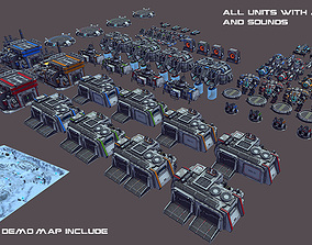 RTS Sci-Fi game assets v3 animated