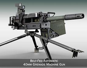 3D model automatic 40mm GMG - Grenade Machine Gun