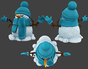 3D model science snowman