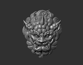 3D printable model foo dog head