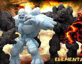 3DRT - Elemental Golems animated