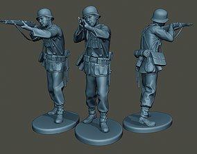 German soldier ww2 Shoot Stand G1 3D print model