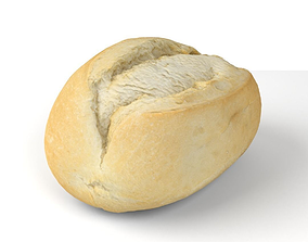low-poly Wheat Bun - 3D Scan