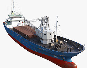 Cargo vessel Sinekura-2 3D model
