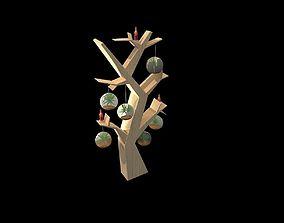 3D model tree decoration display