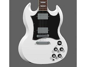 3D model Guitar - Gibson SG - Alpine White