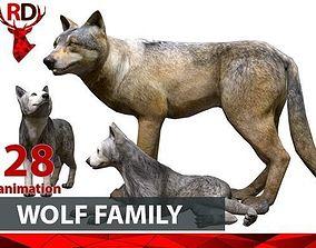 WOLF FAMILY short 3D model