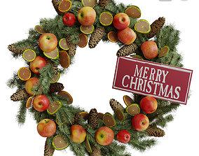 3D PBR Christmas wreath 2