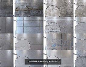 3D model 36 concrete textures