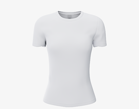 3D model game-ready female T-shirt
