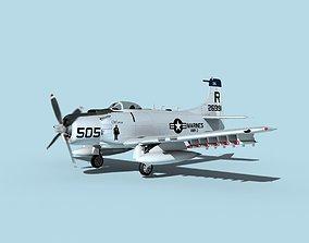 3D model Douglas A-1H Skyraider V20 USMC