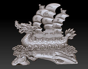 3D print model dragon boat