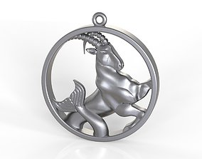 Capricorn in circle 3D printable model