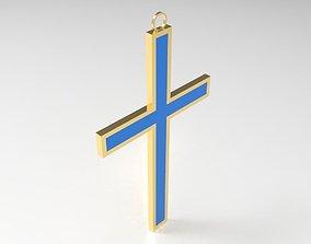 enamel cross 3D printable model