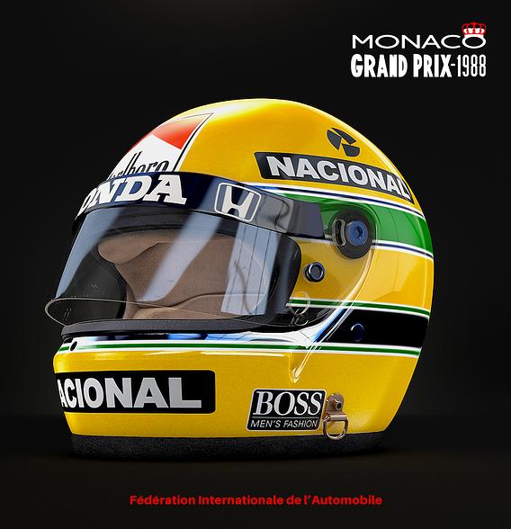 Ayrton Senna Helmet Monaco 1988