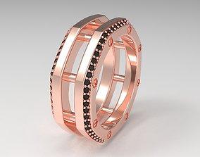 Rockford 2 Row With Diamond Rings in Eu 56 3D print model