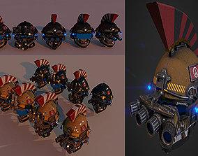 Military Helmet Package 3D model