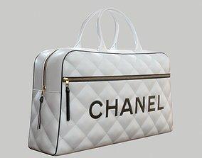 3D asset CHANEL Vintage Logo Bowler Bag Quilted Lambskin 1