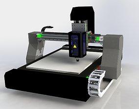CNC ROUTER MACHINE DESIGN 3D model cnc