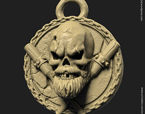 Skull gangster vol3 pendant 3D print model