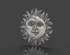 Moon and Sun 3D printable model moon