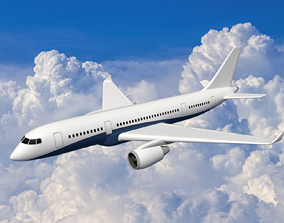 LowPoly Airliner 3D asset