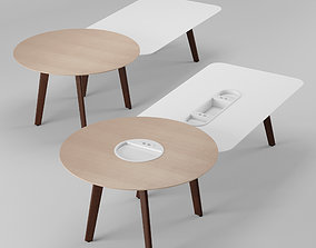 Haworth Immerse Meeting Table Rectangle - Round 3D